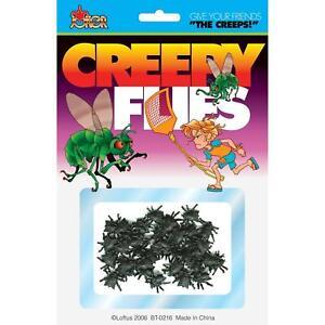 Fake Creepy Flies Prank Joke Gag Gift Halloween Gross Prop
