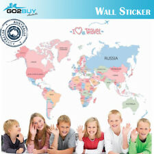 Wall Stickers Removable World Love Travel Map Living Room Decal Picture Art Kids