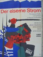 691 DDR Filmplakat gefaltet poster A1 1968 DER EISERNE STROM  SHELESNYI POTOK SU