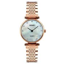 Skmei Women's Watch Rose Gold Or Silver Metal Link Strap Classic Crystal Stones