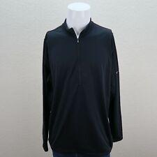 Nike Sphere Black Long Sleeve Half Zip Athletic Outdoor Pullover Jacket Mens XL
