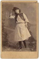 FEMALE ACTOR IN COSTUME ANTIQUE CABINET CARD