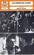 FICHE CINEMA : LES PORTES DE LA NUIT - Brasseur,Reggiani 1946 Gates of the Night