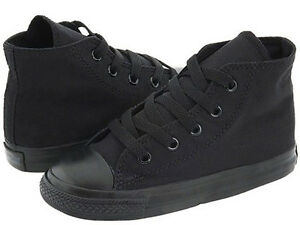 NEW INFANT TODDLER CONVERSE CHUCK TAYLOR ALL STAR HI BLACK MON 7JS121 SO CUTE
