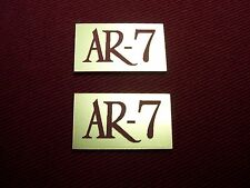 ACOUSTIC RESEARCH AR-7 PAIR OF NEW  LOGO PLATES - BEAUTIFUL