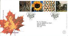 1 AGOSTO 2000 ALBERO e foglia di Royal Mail First Day Cover St Austell SHS