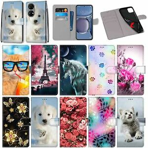 For Huawei P50 Xiaomi Redmi K40 Pro 10 Patterns Leather Wallet Stand Case Cover