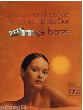 Publicité Advertising 1972 Cosmétique crème Gel Bronze Christian Dior