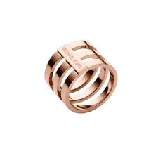 Michael Kors Tri Stack Logo Rose Gold Ring Size 7