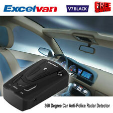 V7 360°Anti-Police Radar Car Speed Detector 16 Band Voice Alert Laser Led Scan