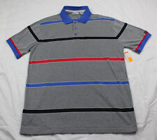Members Only Short Sleeve With Original Tags from 1987 Blue Red stripes Vintage