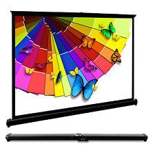 "HD 40"" 4:3 Portable Projector Screen Desktop Stand Meeting Presentation Sports"