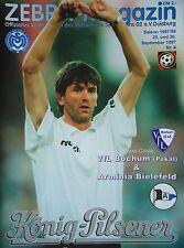 Programm 1997/98 MSV Duisburg - Arm. Bielefeld / VfL Bochum (Pokal)