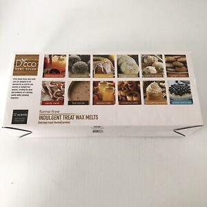 DECO Indulgent Treat Wax Melts- 12 (2.5oz) Assorted Scented Wax Warmer Cube/Tart