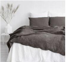 King 100% Pure Linen Duvet Cover Morandi Brown Etsy Sample Clearance