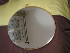 miroir ancien ovale doré