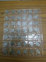 job lot of 42 silver sixpence coins 1925 to 1961  (9)