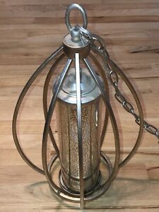 Kichler Sterling Gold Savanna Mercury Glass 1 Light Ceiling Pendant Curved Arms