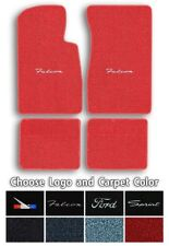 Ford Falcon Custom Logo Loop Carpet Floor Mats - Choose Mat Color And Logo