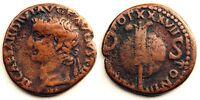 Hispania - As de Augusto (23 a.C - 14 d.C).  Caesaraugusta. (Zaragoza). ESCASA