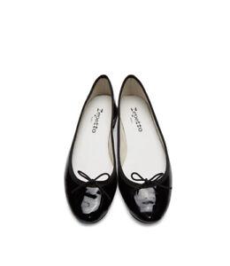 Brand New REPETTO Black Patent Cendrillon Ballerina Flats