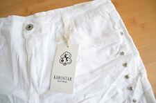 KAROSTAR LEXXURY Baggy Boyfriend Jeans Hose Big 48 46/48 weiß Strass Neu Italy