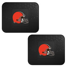 NFL Cleveland Browns Car Truck 2 Back Utility All Weather Rubber Floor Mats