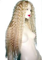 Blonde Indian Human Hair Remi Remy Full Lace Wig Wigs Wavy Deep Wave #24/613