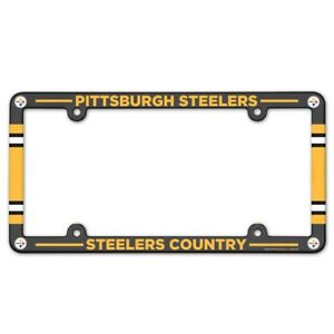 """PITTSBURGH STEELERS COUNTRY 6""""x12"""" LICENSE PLATE FRAME NEW WINCRAFT 😎🏈"""