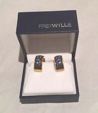 Enamel Clip Post Earrings Nib Authentic Frey Wille Hundertwasser Méditerranée