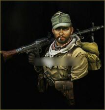1/10 BUST Resin Figure Model Kit German Sodlier Waffen-SS WWII WW2 Unp[ainted