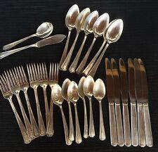 Lot W M Rogers Shelton 1935 Silver Plate Flatware 26 Pieces Cutlery Hostess Fork