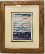"""Daryl Howard """"Silent Voices In The Pueblo"""" 1988 Foil Embossed Print."""