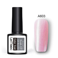 LEMOOC 8ml Soak Off UV LED Gel Nail Polish  Pink Base Top Coat Gel Varnish