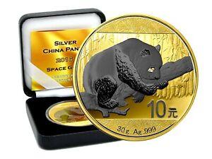10 Yuan Silber China Panda 2016 Gold Space Edition