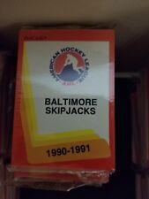 1990-91 Pro Cards AHL Baltimore Skip Jacks Hockey Team Set Sealed