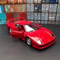 New 1/24 Bburago Ferrari F40 Coupe car model door open & Close Red 18-26016