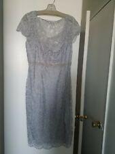 Emma Street Silver Lace Dress Size 12