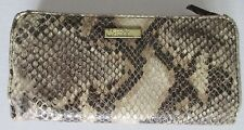 Jessica Simpson Tri-fold faux snakeskin wallet with ruffle