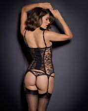 Agent Provocateur Denver Corset Basque/Thong Set In Black 34C / AP 3 - UK 10/12!