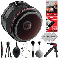 Opteka 6.5mm f/2 HD MF Fisheye Lens for Canon EOS-M Mount APS-C Digital Cameras