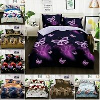 Luxury 3D Effect Printed Quilt Cover Bedding Set 4 Piece Duvet Cover UK Size