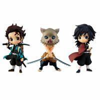 3pcs Anime Demon Slayer: Kimetsu no Yaiba Mini PVC Figure Set No Box Xmas Gift