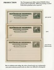 Nicaragua Postal Stationery PC - H&G #87 1c 3 Color Varieties $$$$