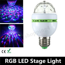 E27 3W Colorful Auto Rotating RGB LED Bulb DJ Stage Light Xmas Party Lamp  !