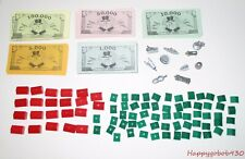 Parker Brothers Monopoly Parts Pieces - Tokens - Houses - Hotels - Money
