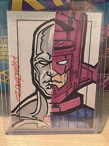 Rittenhouse Heroes & Villains Randy Martinez Sketch Card Galactus Silver Surfer