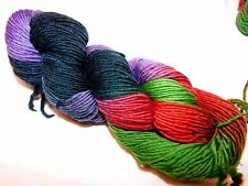 RED+GREEN+PURPLE+BLACK 210yd Skein Malabrigo WORSTED Pure SOFT Merino Wool YARN