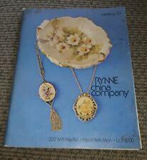 Vtg 1970's Rynne Painting China Supplies Equipment Patterns Catalog #27