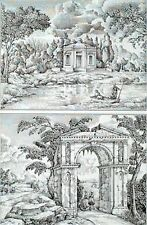 Decoupage Papier Bogen , Griechisch Antik Landschaftsmotive 48x68 90512